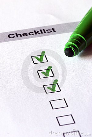 Free Green Checklist Royalty Free Stock Photography - 10974057