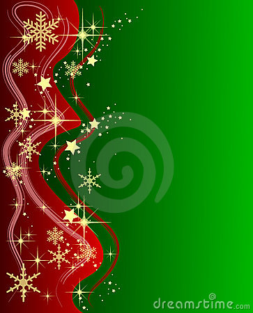 Green Christmas Background with Stars