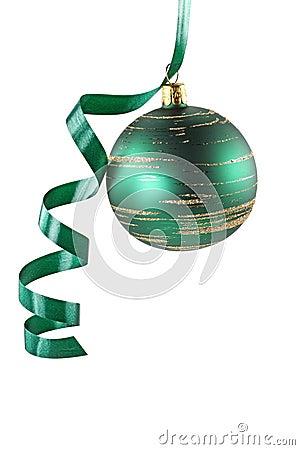 Free Green Christmas Ball Stock Image - 6888411