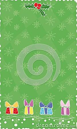 Green Christmas banner