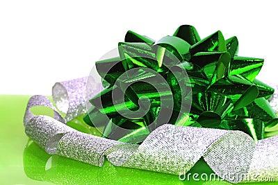 Green Christmas bow