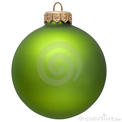 Free Green Christmas Ornament . Isolated Over White. Stock Photos - 11774983