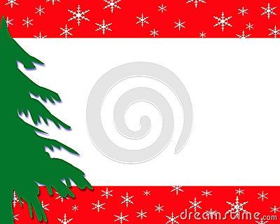 Green Christmas tree border