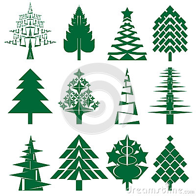 Free Green Christmas Tree Series Royalty Free Stock Photo - 27461195