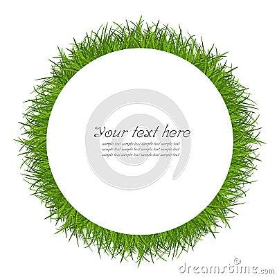Green circle grass