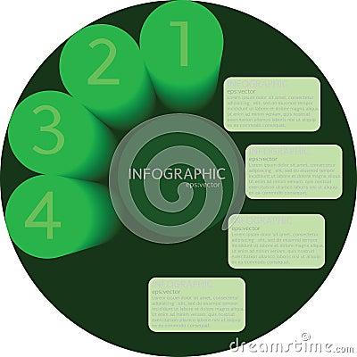 Green circle Modern Business Design template