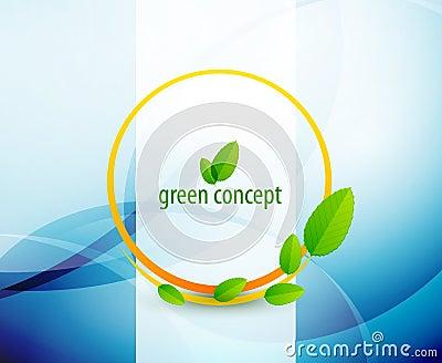 Green circle nature concept