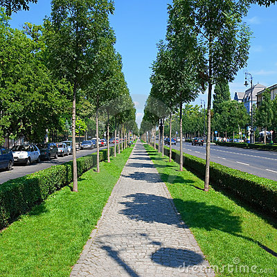 Free Green City Alley Stock Photography - 9130842