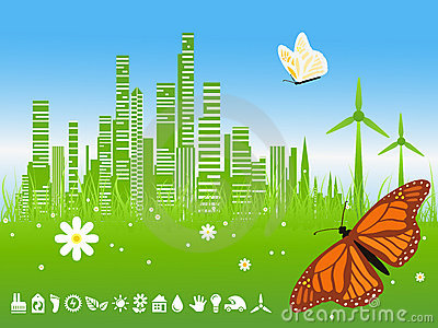 City Background on Vector Illustration  Green City Background  Image  11318373
