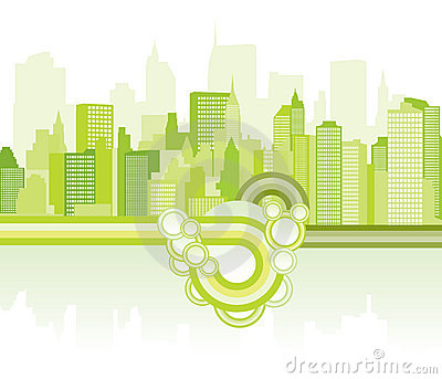 Green city background