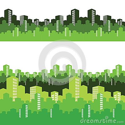 Green city,  illustration, background
