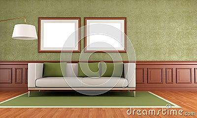 Green classic interior