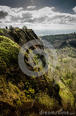 Green Cliff Stock Photo