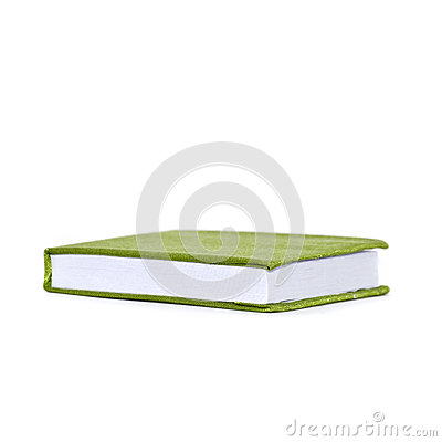 Green cloth cover book