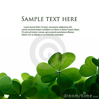 Free Green Clover Border. Royalty Free Stock Photography - 15038917