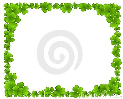 Green Clover Leaves Leaf Border Frame
