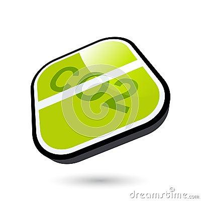 Green CO2 button