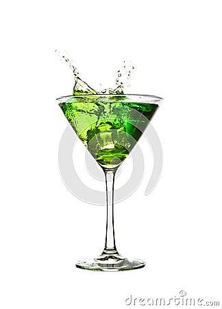 Free Green Cocktail Splash Stock Photos - 13708343