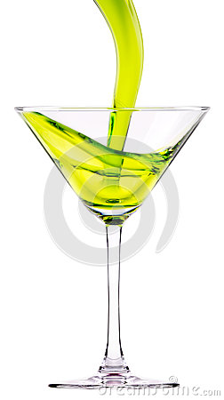 Green cocktail splash