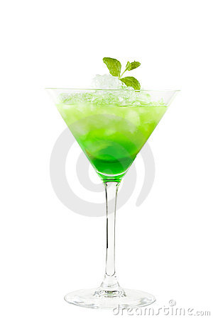 Free Green Cocktail With Mint Royalty Free Stock Photo - 18847295