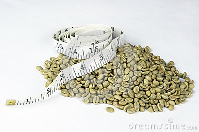 Green Coffee Beans White Tape Measure