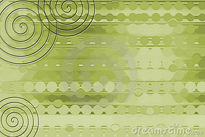 Green Coil Background