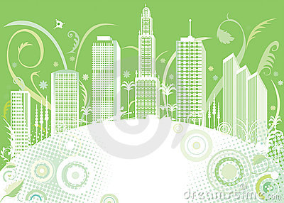 Green color city