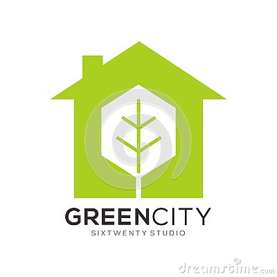Free Green & Color Full Real Estate Template Logo & Icon Royalty Free Stock Photo - 137928765