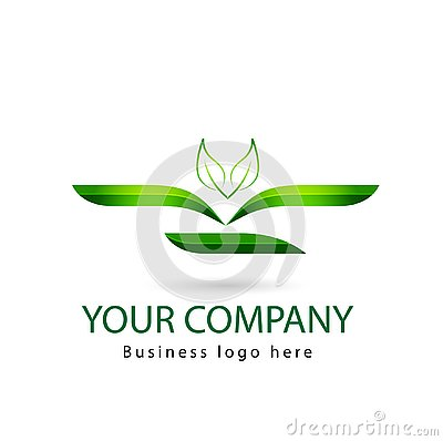 Green color Leaf, plant, logo set, ecology, people, wellness, leaves, nature symbol icon vector designs Stock Photo