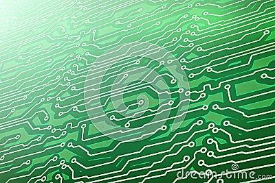 Green computer circuit board