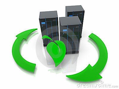 Green it concept with server