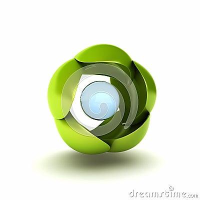 Green conceptual symbol