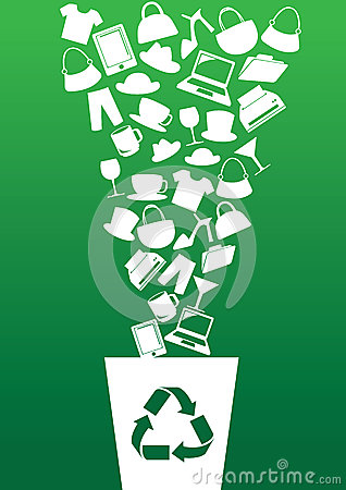 Free Green Consumerism And Recycling Concept Stock Photos - 42498543