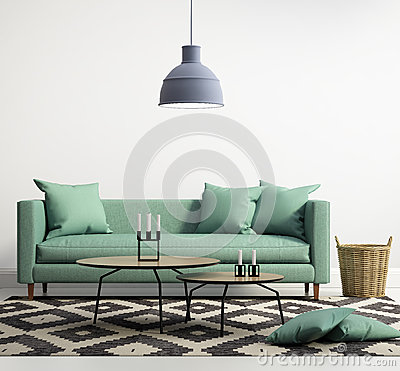 Free Green Contemporary Modern Sofa Stock Image - 59688831