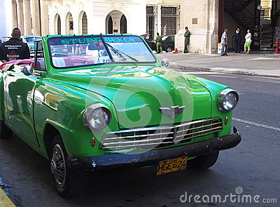Green Convertible Studebaker In Havana Cuba Editorial Stock Photo