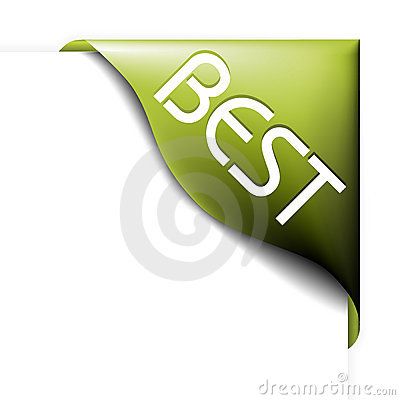 Free Green Corner Ribbon For Bestseller Royalty Free Stock Photo - 11102675
