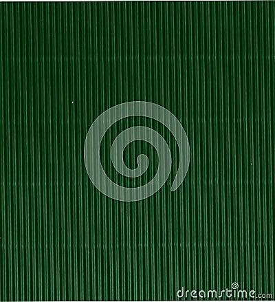 Green corrugated cardboard background