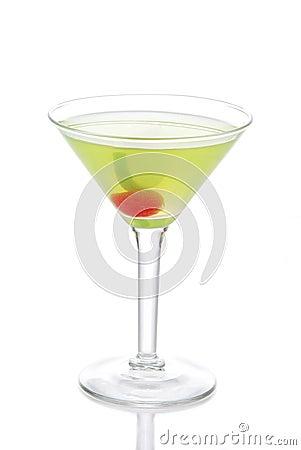 Free Green Cosmopolitan Martini Cocktail With Vodka Royalty Free Stock Photo - 19066675