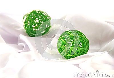 Green Craft Christmas ball