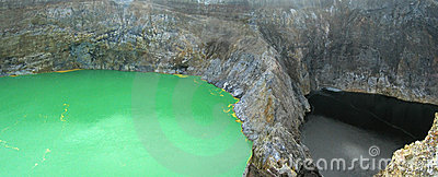 The green crater lake