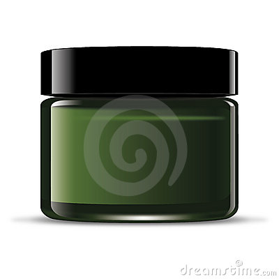 Green cream jar