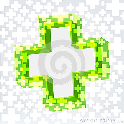 Free Green Cross Background Stock Image - 27382161