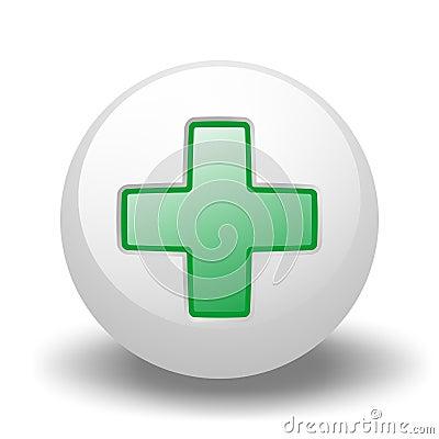 Green Cross On Ball