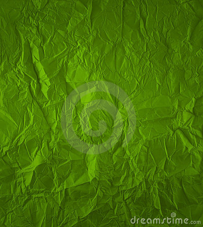 Green crumpled paper