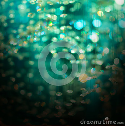 Green crystal bokeh christmas abstract background