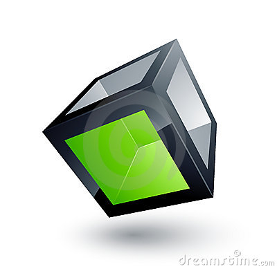 Free Green Cube Royalty Free Stock Photography - 8933567