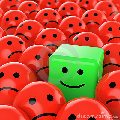 Free Green Cube Smiley Happy Royalty Free Stock Photography - 10638827