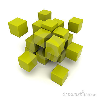 Green cubic background