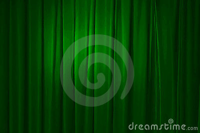 Green curtain, vector
