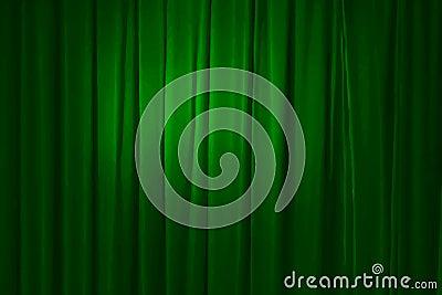 Green curtain, vector